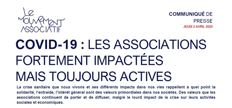 Les associations impactées mais actives